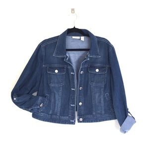 Chico's jean trucker jacket